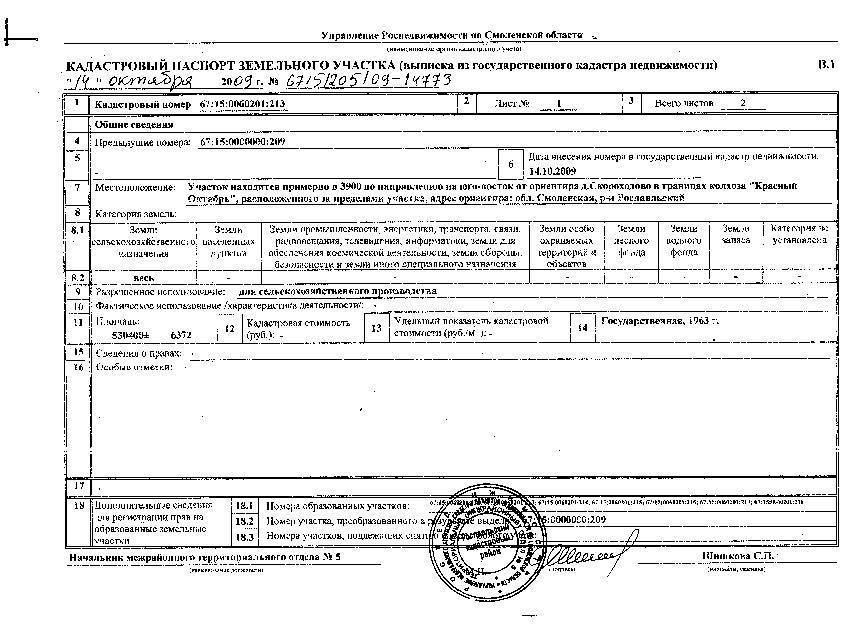 Кадастровый паспорт земельного участка фото