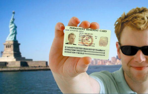 Документ для легального пребывания в США - грин карта